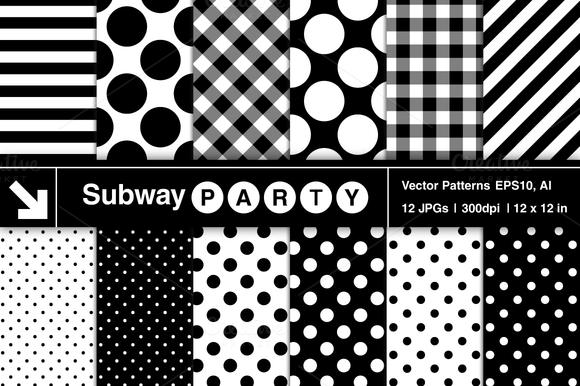 Vector Polka Dots Stripes Gingham