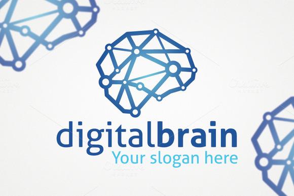 Digital Brain Logo Template