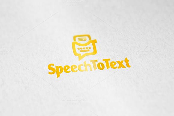 SpeechToText Logo Template