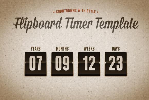 Flipboard Countdown Timer Template