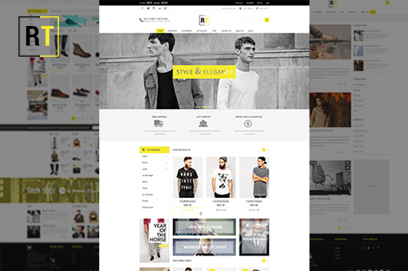 RT Store PSD Template
