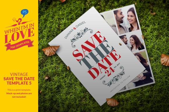 Vintage Save The Date Template 5
