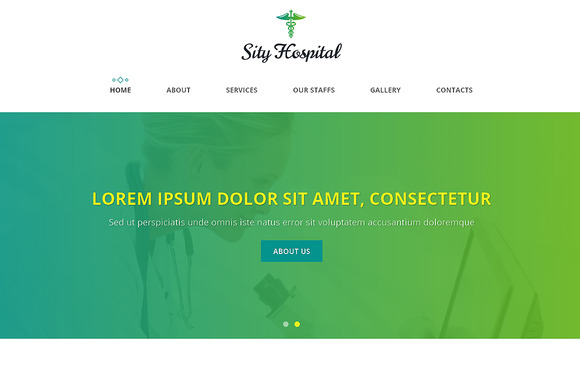 Sity Hospital One Page Theme