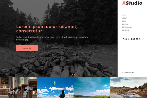 A Studio Responsive One Page Theme