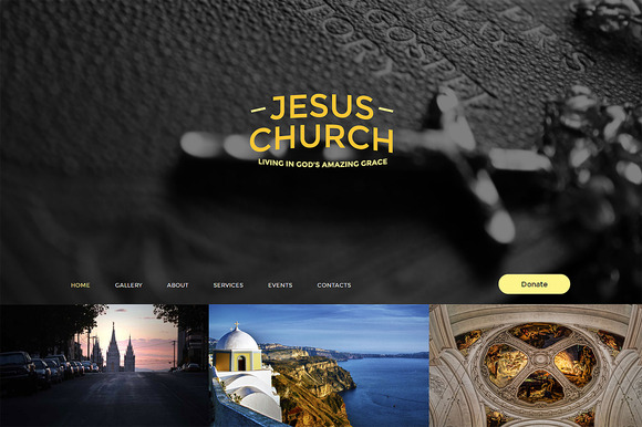 Jesus Church One Page Theme