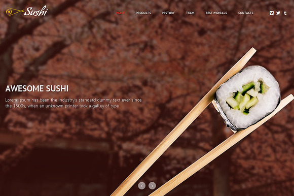 Sushi Responsive One Page Theme
