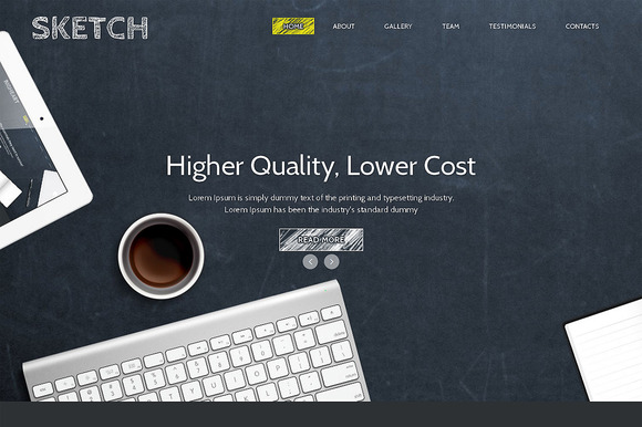 Sketch Responsive One Page Theme