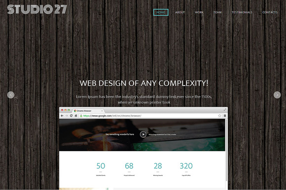 Studio 27 Responsive One Page Theme