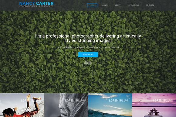 Nancy Carter One Page Theme