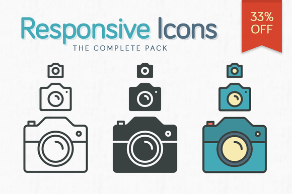 Responsive Icons The Complete Pack