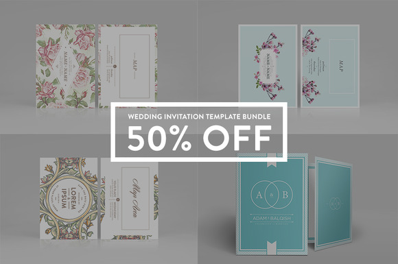 Wedding Invitation Bundle 50% Off