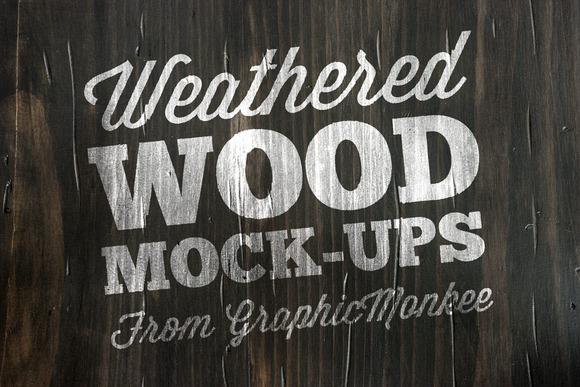 15 Weathered Wood Texture Mock-Ups