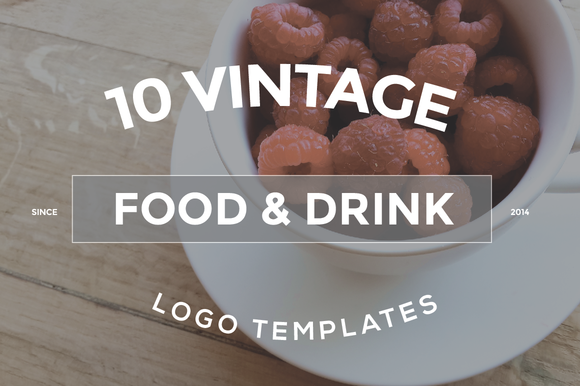 10 Food Drink Logo Designs Bundle