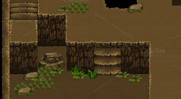 Top-Down Game Tileset 1 Cave