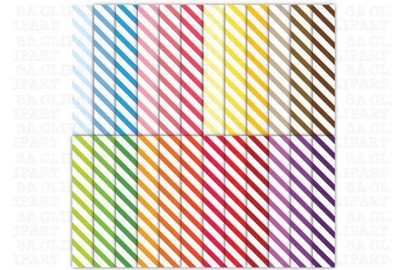 24 Stripes Digital Papers Pack