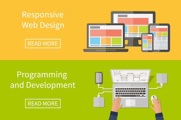 Web Design And Programming Flat