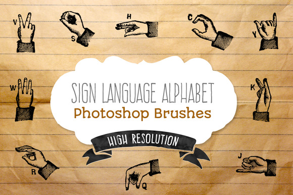 Sign Language Alphabet Brushes