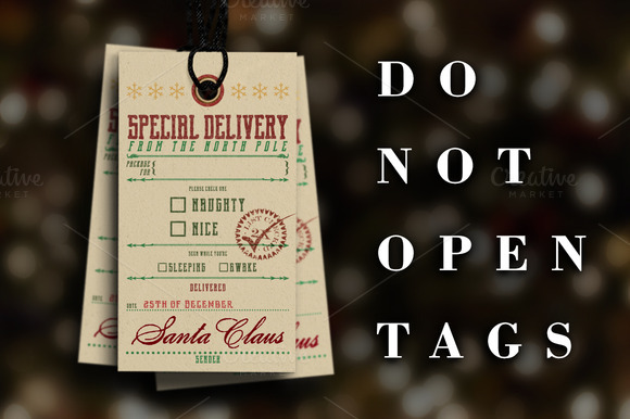 Special Delivery Christmas Tags