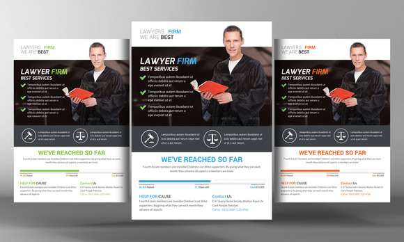 Lawyer Firm Flyer Template