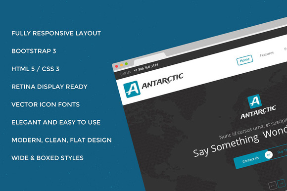 Antarctic Bootstrap 3.2 Site Theme