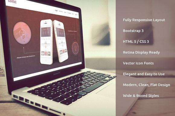 Tone Responsive Bootstrap 3.2 Theme