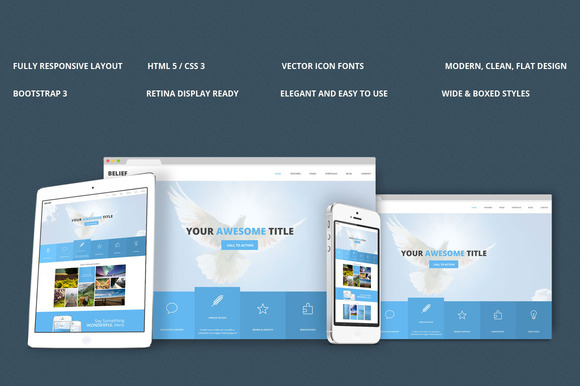 Belief Bootstrap Responsive Theme