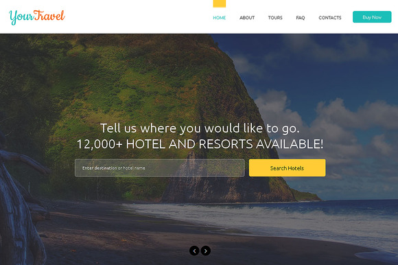 Your Travel One Page Theme