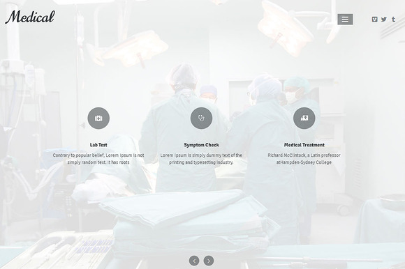 Medical Responsive One Page Theme