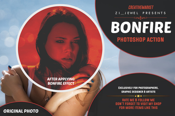 Bonfire Photoshop Action