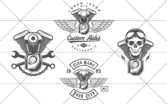 Vintage Biker Logos