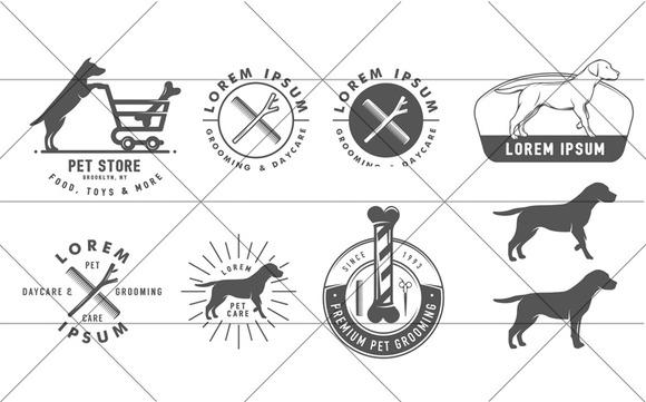 Set Of Pet Care Design Elements