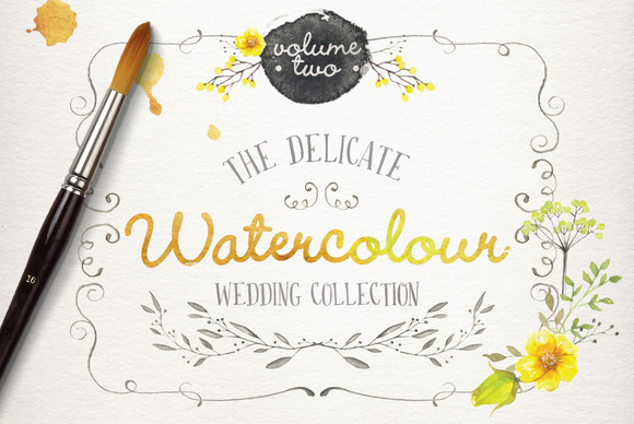 Watercolor Wedding Collection Vol 2