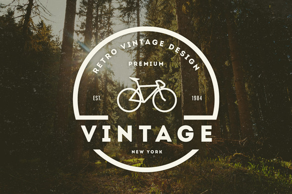 14 Vintage Logos Badges
