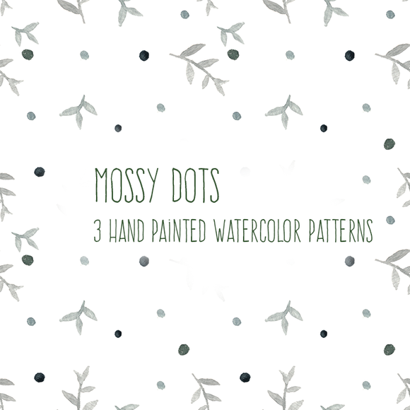 Mossy Dot Watercolor Patterns
