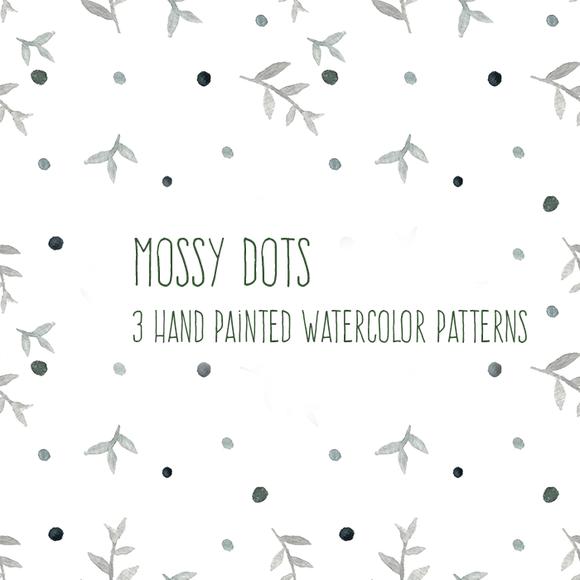 Mossy Dot Watercolor Patterns
