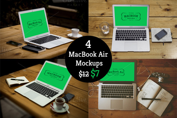 40% Off On Macbook Air Mockup Bundle