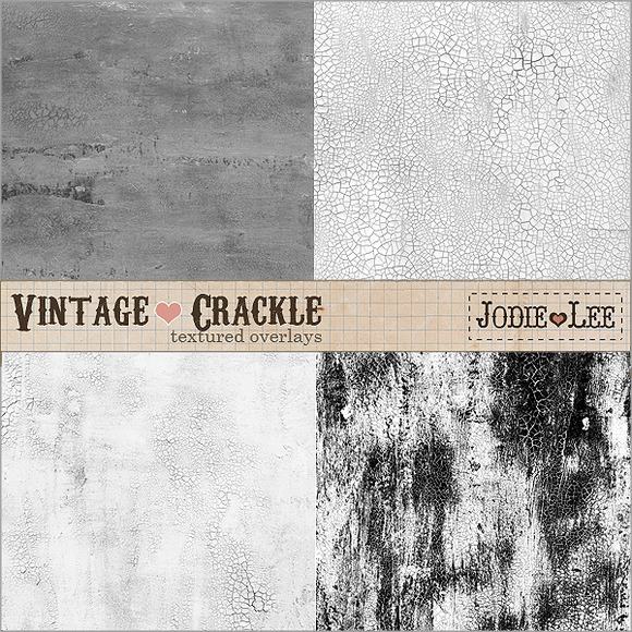 Vintage Distressed Crackle Textures