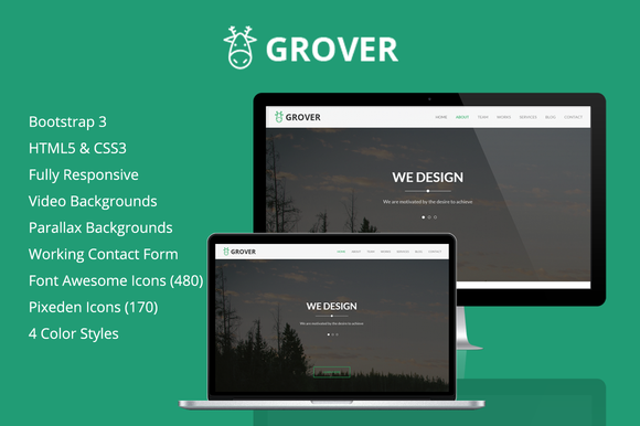 Grover One-Page HTML5 Template