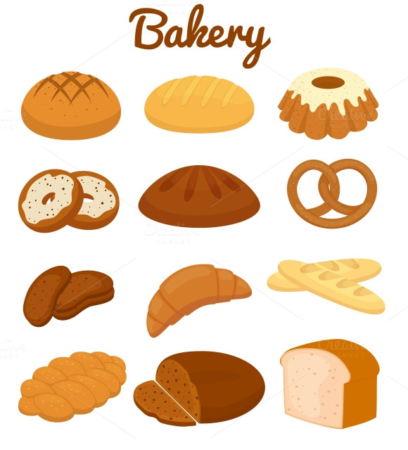 Colorful Bakery Icons