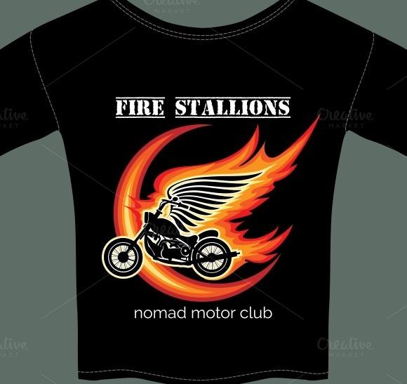 Biker T Shirt Template