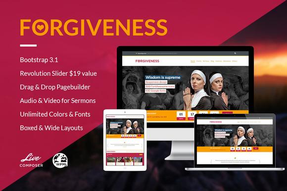 Forgiveness Responsive Church Theme