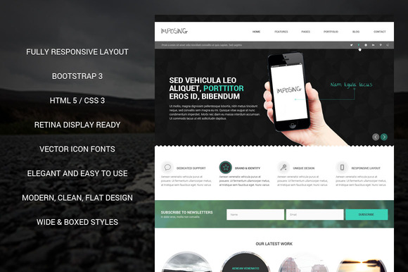 Imposing Bootstrap Responsive Theme