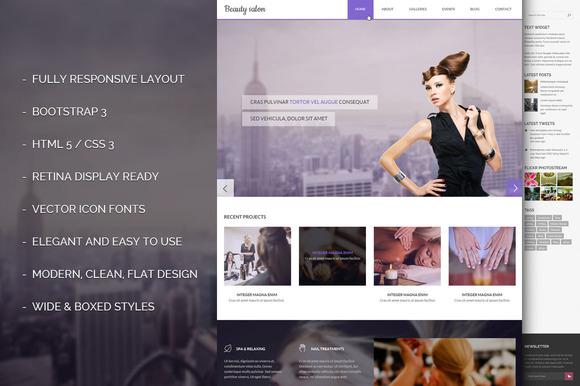 Salon Bootstrap 3.2 Responsive Theme