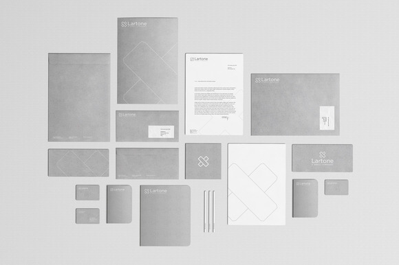 2 Stationery Mock Ups Gray Paper