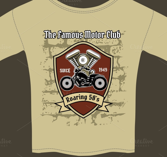 T-shirt For Motorcycle Workshop