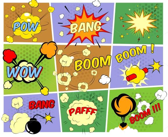 Mockups Of Comic Book Speech Bubbles