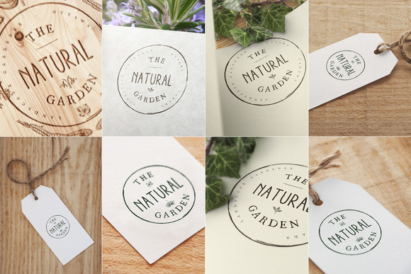 8 Label Logo Mock Ups