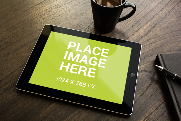 Black IPad Smart Object Mockup