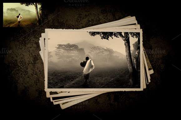 Old Vintage Photo Effect Mockup