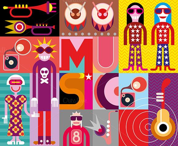 Music Pop Art Vector Illustration